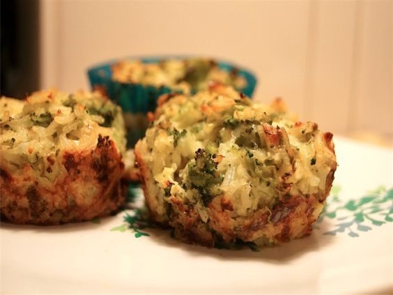 Broccoli Cheddar Rice Cups Recipe Muffins Ww Points