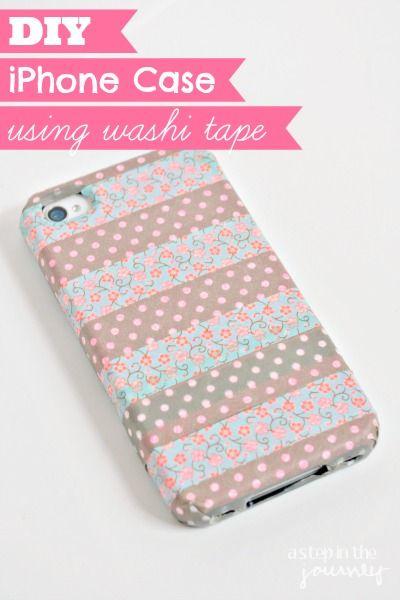 Washi iphone cases and washi tape on pinterest for Washi tape phone case