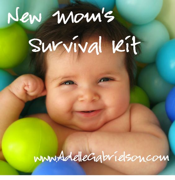 New Mom's Survival kit.  TONS OF GREAT IDEAS!