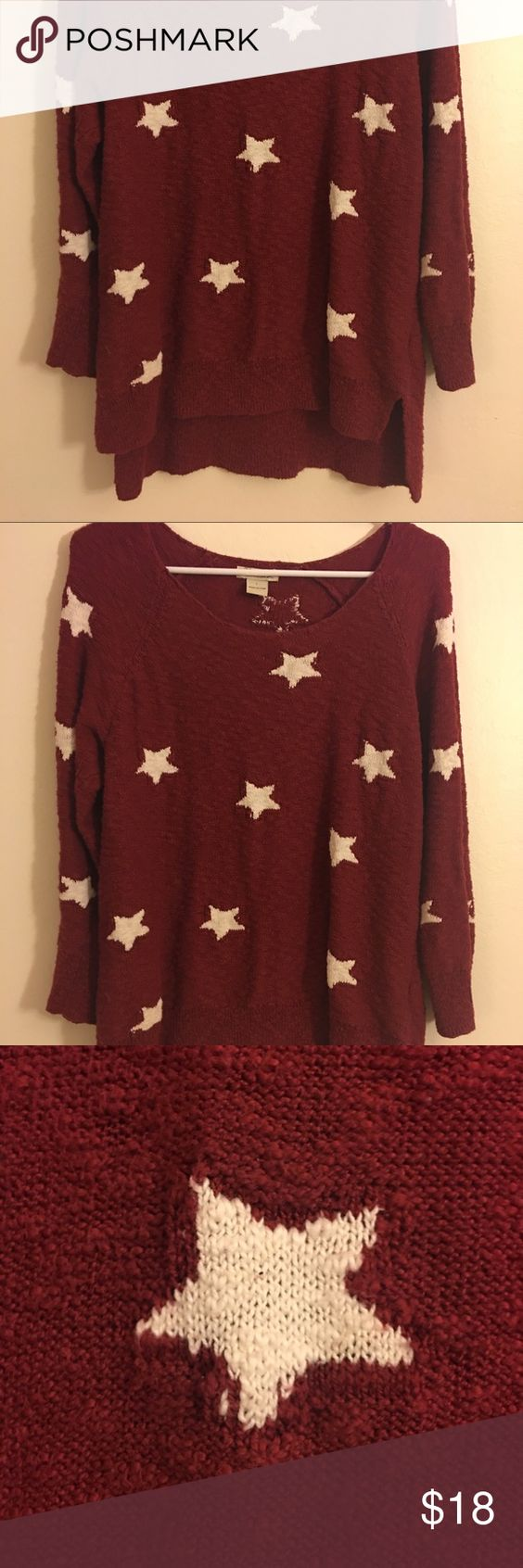Lucky brand red sweater with white stars | Red sweaters, Jumpers ...