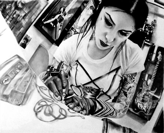 Kat Von D. I will have to be tattooed by her.