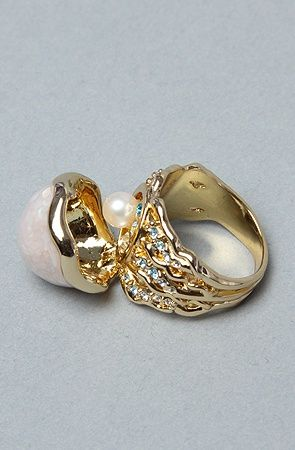 The Little Mermaid Collection Hidden Pearl Ring Jewls
