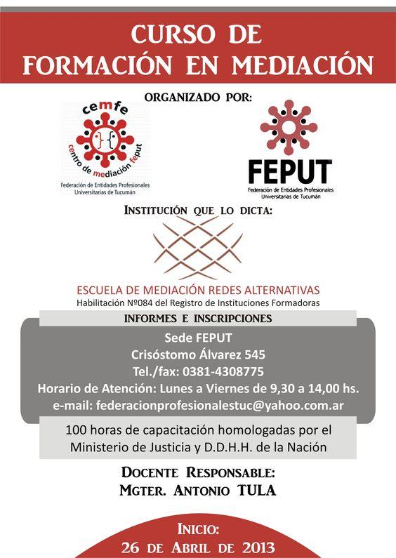Formacion de Mediadores - Comienza Abril 2013