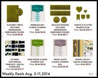Love these ink pad in the new Weekly Deals from Stampin' Up! www.inkandinspirations.com
