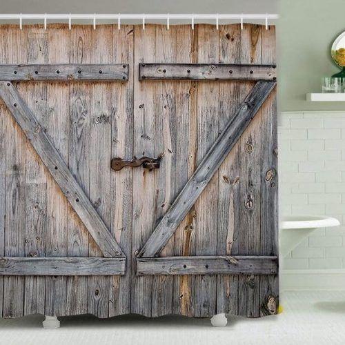 Barn Door Shower Curtain Barn Door Shower Curtain Rustic Barn