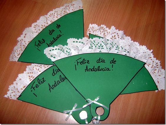 Idea para hacer abanicos para el día de Andalucía