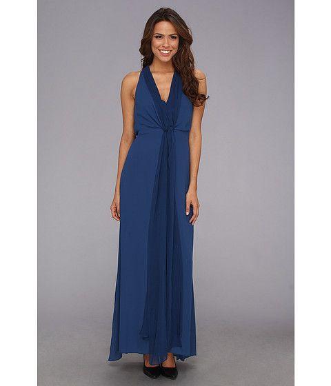 Woven Evening Gown blue brides maid idea sleeveless