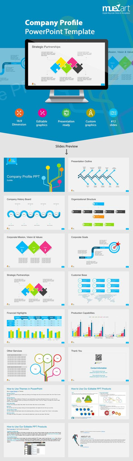 Company Profile PowerPoint Template by JafarDesigns GraphicRiver - corporate profile template