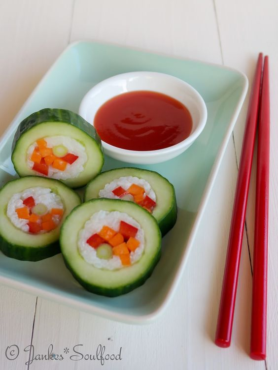 Gurken-Sushi