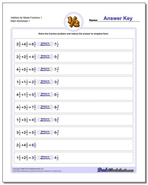 Https Www Dadsworksheets Com Mixed Fraction Worksheets With Common Denominator Fraction A Fractions Worksheets Fractions Multiplication Subtracting Fractions Subtracting mixed fractions worksheets