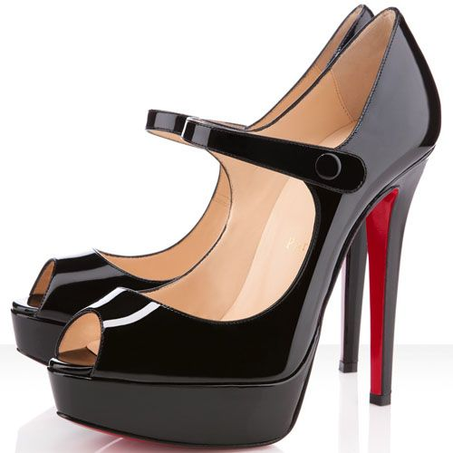 Christian Louboutin Bana 140mm Peep Toe Pumps Black