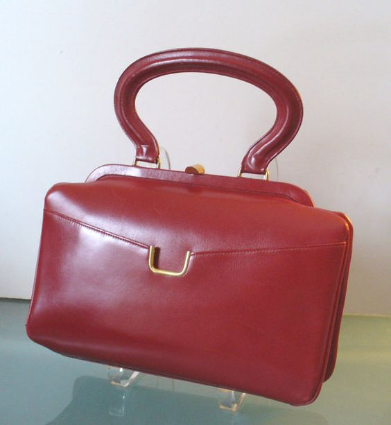 Vintage Dofan Made in France Cherry Red Handbag | Cherries ...