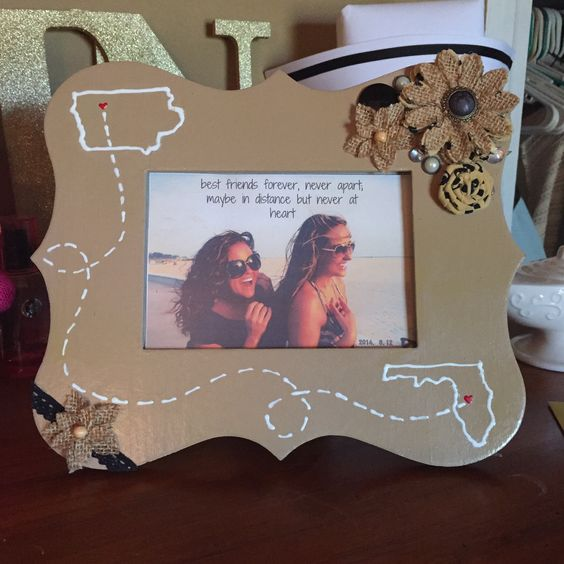 Diy Gifts For Your Best Friend Google Search: DIY Best Friends Long Distance Picture Frame