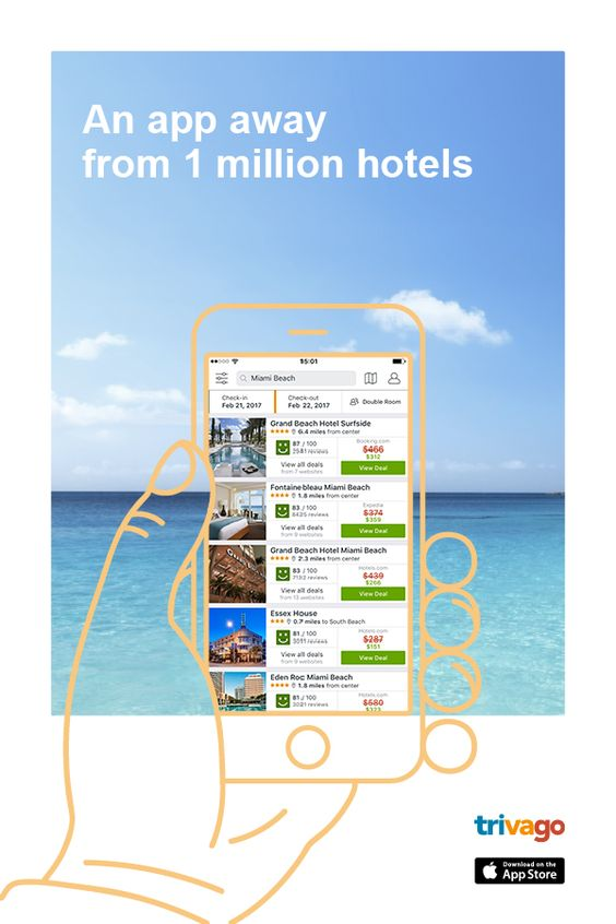 Download trivago app to find perfect hotels at low prices. Compare over a million hotels worldwide, from more than 200 booking websites and save money on your vacations!: