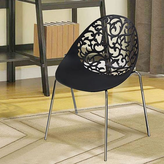Cubed Joel Trendy Chair Black