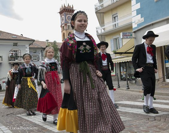 Trentino, traditional costumes from Tesino Valley.