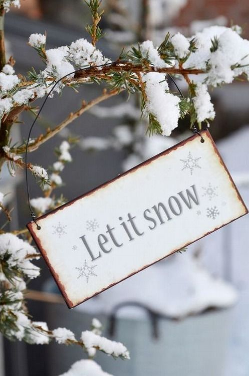 let it snow winter sign - nice also to decor a winter wedding: