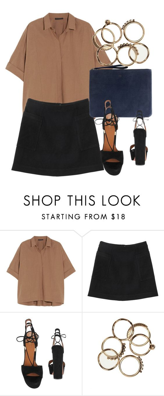 """""""Untitled #5723"""" by laurenmboot ❤ liked on Polyvore featuring Donna Karan, Monki, Ela and Aquazzura"""