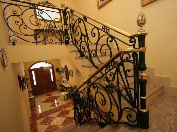 Escalera de forja 3 forja miguel artesan a del hierro y forja toledana forja art stica - Barandas de forja para escaleras ...