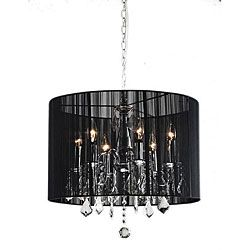 brighten your home decor with an elegant chandelier lighting fixture showcases an elegant black shade chandelier black chandelier lighting
