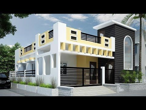 Youtube House Front Design House Elevation Single Floor House Design