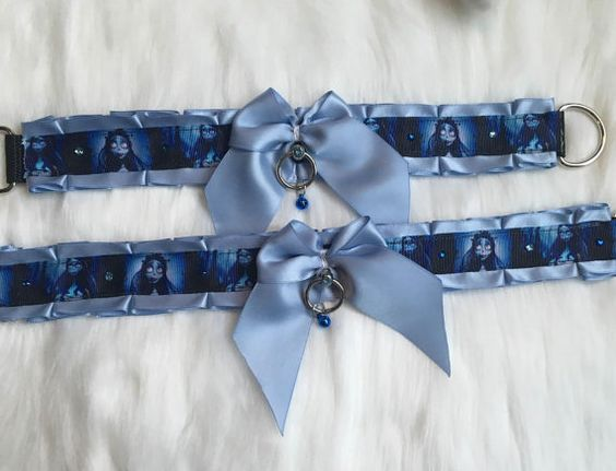 Corpse Bride 2 Premade collars & 1 Leash by LittleKittenBones