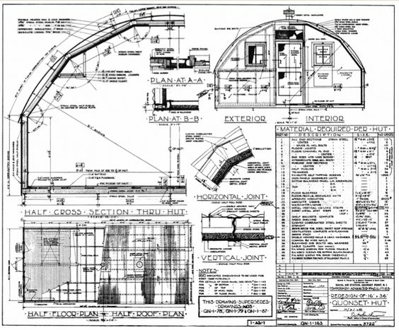 Quonset hut homes plans united states navy quonset huts for Quonset hut home designs