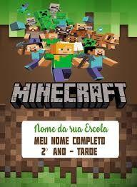 Resultado De Imagem Para Capa De Caderno Minecraft Para Imprimir