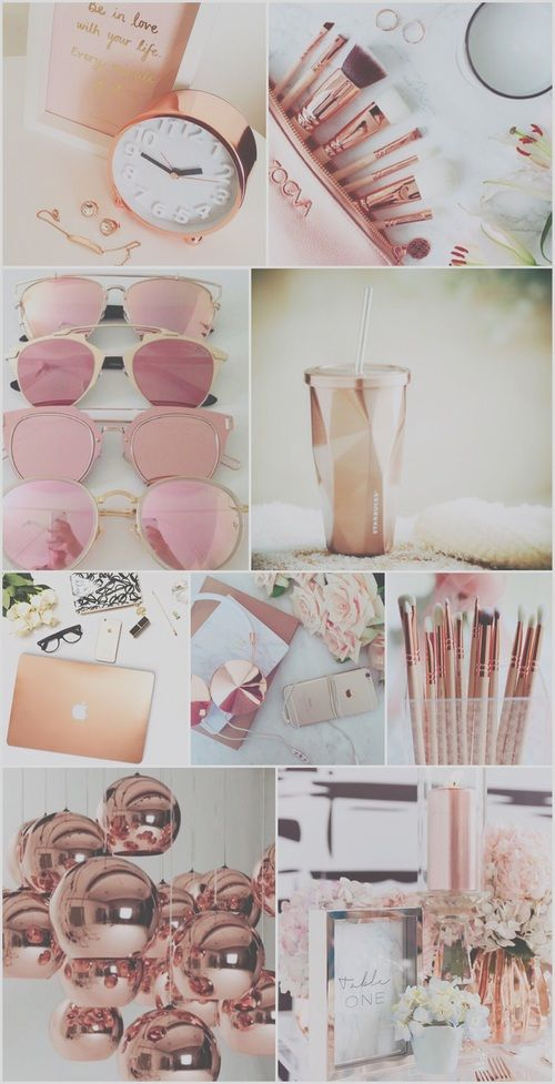 Tumblr Collage Wallpaper Cute Girly Iphone Rose Gold Aesthetic
