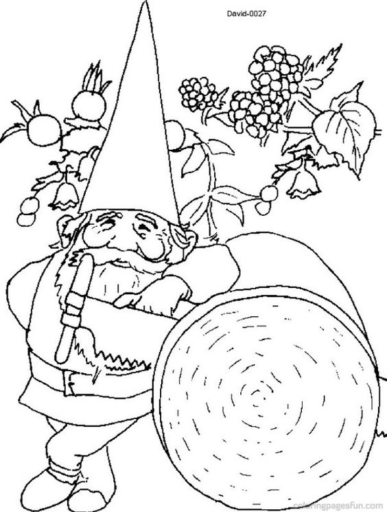 david the gnome coloring pages 18 holidays