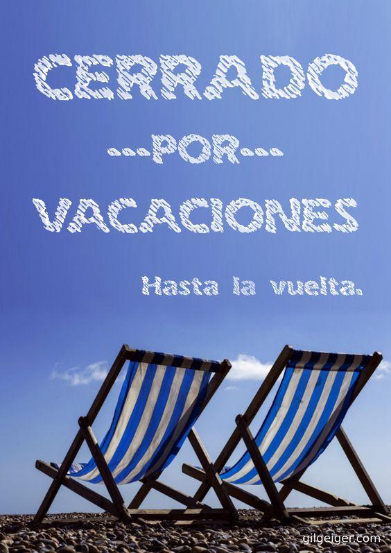 Cartel Cerrado por vacaciones (Enlace Descarga Gratuita):