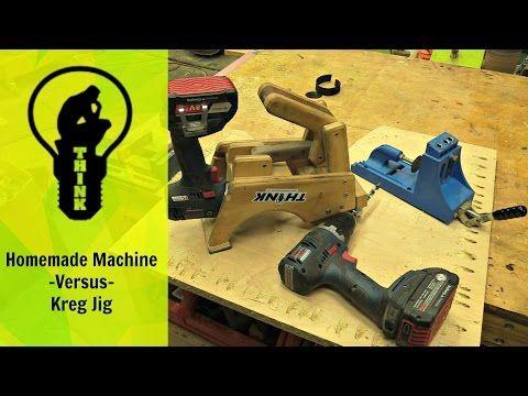 Pocket hole machine shoot out! Homemade -VS- Kreg Jig - YouTube