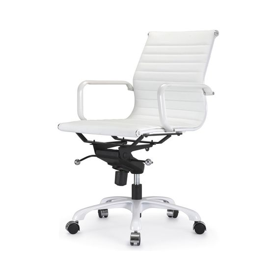 White Elegance Office Chair | dotandbo.com