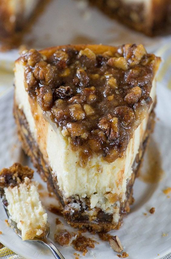 Pecan Pie Cheesecake...these are the BEST Fall Dessert Recipes!