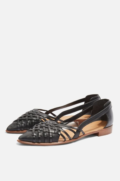 Abstract Pointed Shoes | Woven shoes