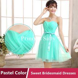 Online Shop Mint Green Bridesmaid Dress Yarn Satin Sweetheart Vestidos De Madrinha Vestido De Festa Elegance Short Dress For Wedding Party Aliexpress Mobile