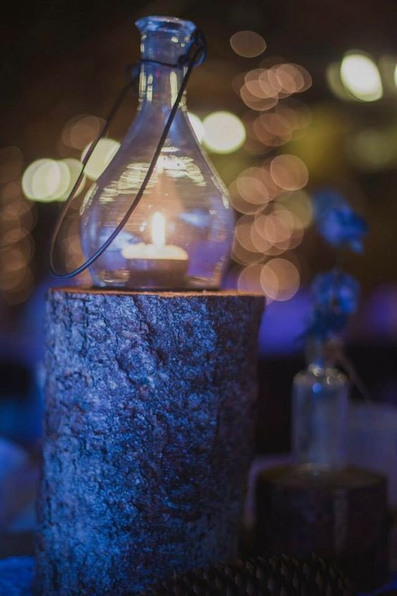 Homemade rustic table decorations