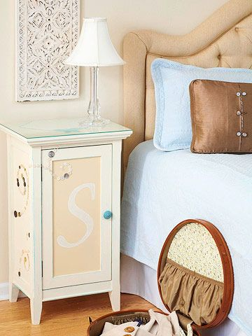 bedside table- like the initial!