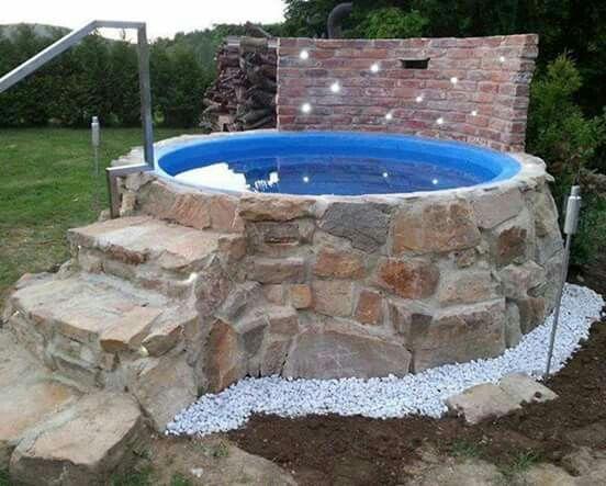 Concrete pool above ground garden pinterest pools - Above ground concrete pool ...