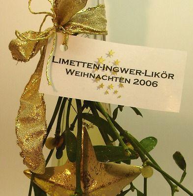 Limetten-Ingwer-Likör