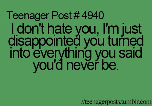 i dont hate you.. just disappointed