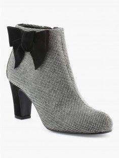 Boots esprit pied-de-poule