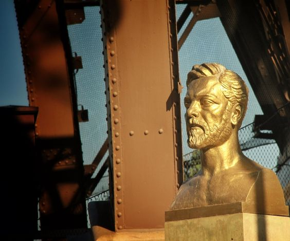 Bust of Alexandre Gustave Eiffel on the Eiffel Tower