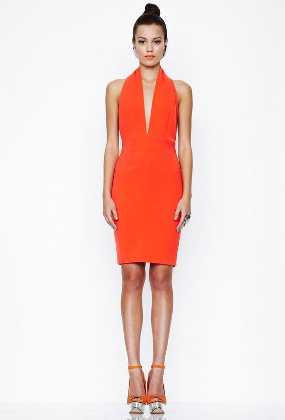 Emma Midi Dress - Orange  £95.00