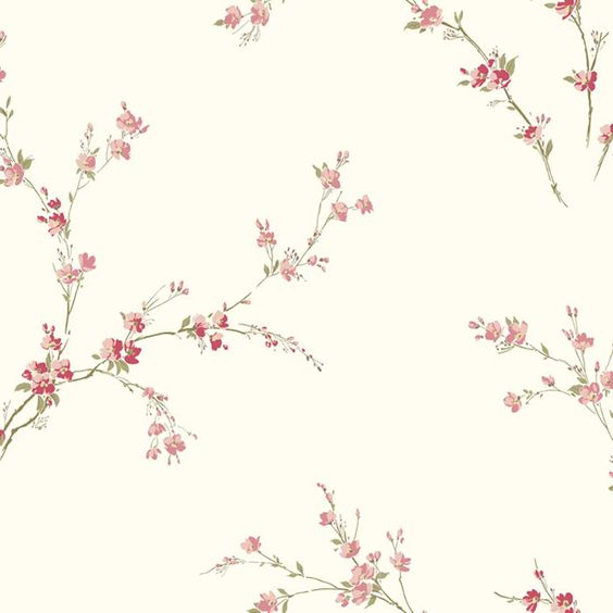 """Gentle Manor Oriental Spring 33' x 20.5"""" Blossoms Floral Wallpaper"""