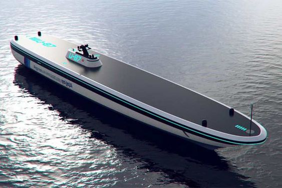 Algoritmi USV unmanned concept cargo vessel, powered by nuclear…