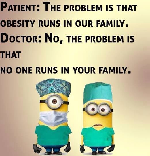 Doctor, obesity, running. 。◕‿◕。