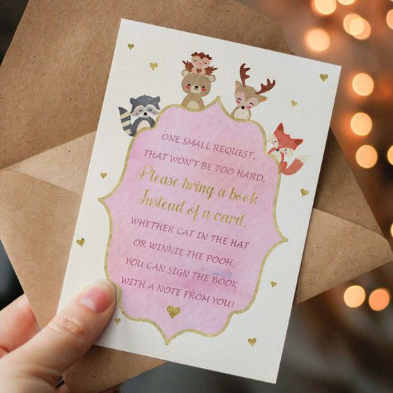 please bring a book instead of a card printable by DesignYourLove