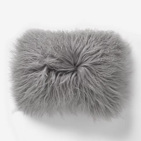18 X 13.5 Mongolian Fur Handmade Pillow Case by GlamorousJILL