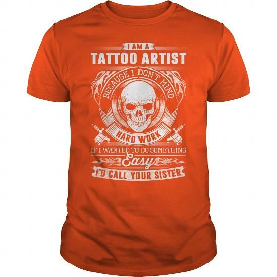 Cool Awesome Tatto Artist Shirt Shirts & Tees